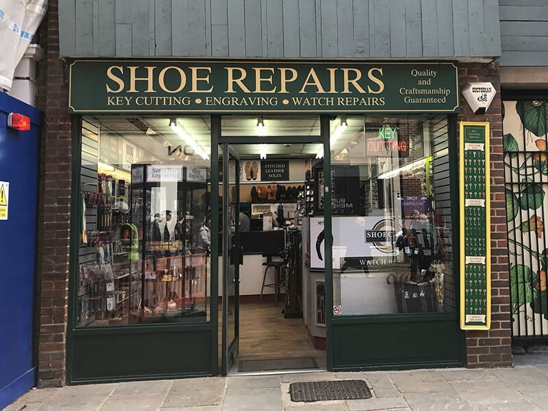 Shoe repairs, Whitefriars, Canterbury